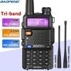 Baofeng UV-5R III 트라이 밴드 워키 토키 136-174/220/260/400-520/-MHz 아마추어 햄 핸드 헬드 휴대용 라디오 Comunicador 송수신기