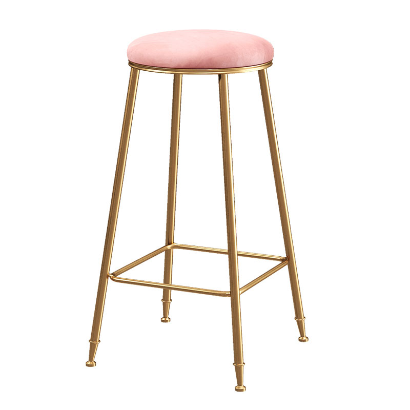 Northern Europe Light Luxury Bar Chair Stool Ins Simple Modern Net Red Household Round Stool Coffee Restaurant Makeup Stool Chai