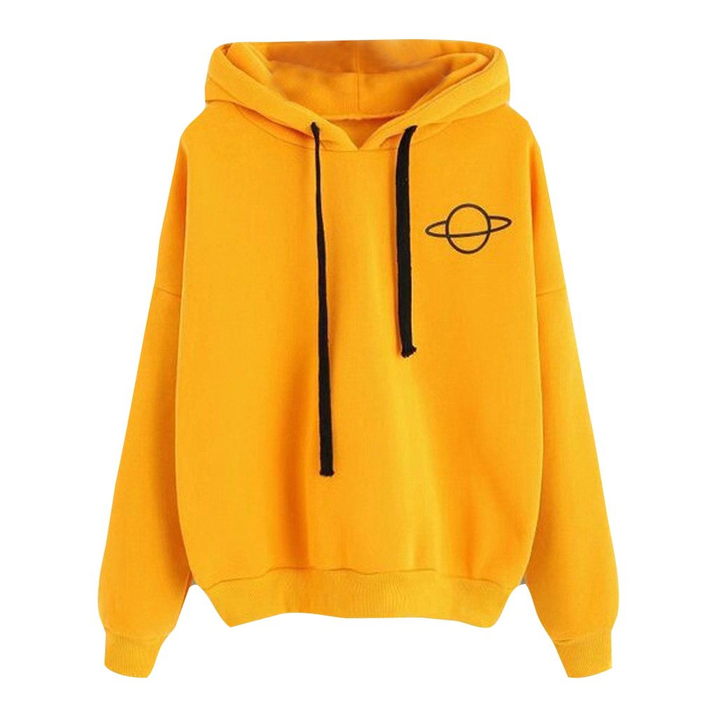 Loose Printed Hooded Sweatshirt Hoodies Long Sleeved Pullover Women Casual Tops Pullovers Sweatshirts Female Hoodie Camisola