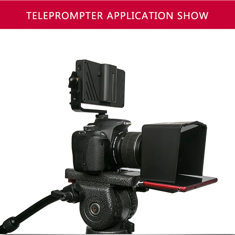 Bestview Smartphone Teleprompter for Canon Nikon Sony Camera Photo Studio DSLR for Youtube Interview Teleprompter Video