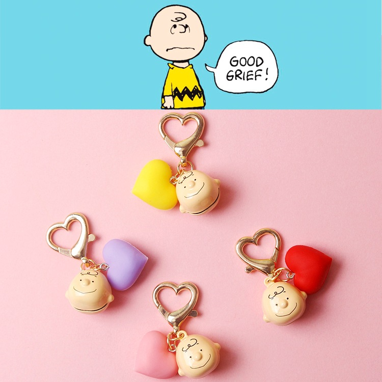 2019 New INS Cute Cartoon Charlie Brown Key Chain For Ladies Creative Car Bag Charms Accessories Anime Keychain Boyfriend Gifts