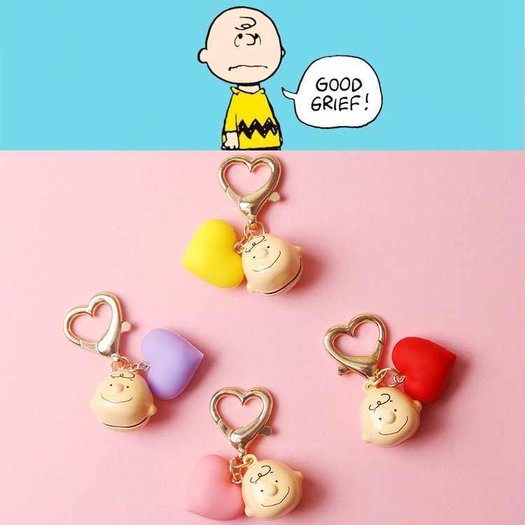 2019 Nova INS Charlie Brown Corrente Chave Bonito Dos Desenhos Animados Para Senhoras Saco Carro Criativo Encantos Acessórios Anime Chaveiro Presentes do Namorado