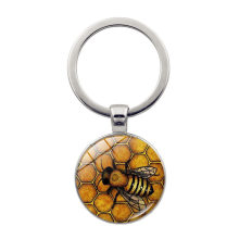 2020 Yellow Queen Bee Key Chains Time Jewelry Key Chain European And American Popular key Ring is a Gift for Adults or Children(China)
