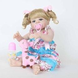 Кукла реборн силиконовая, кукла ручной работы, кудрявые волосы, детский праздничный подарок, детская игрушка для сопровождения роста