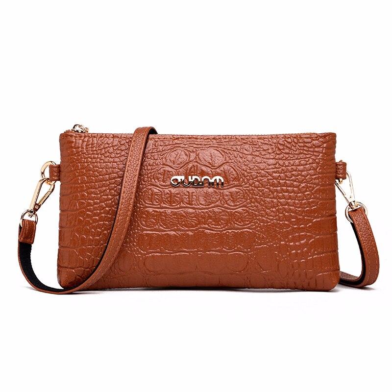 2019 Women Alligator Leather Shoulder Bag Sac A Main Vintage Soft Leathr Messenger Bags For Girls Bolsas Ladies Clutch Bags New