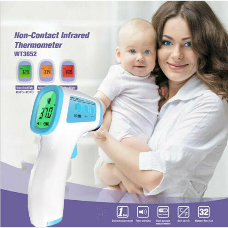 Infrared Electronic Thermometer LCD Digital Non-contact IR Thermometer Forehead Temperature Fever Measure Tool For Baby Adult
