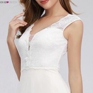 Image 5 - 우아한 레이스 웨딩 드레스 적 EP00811WH 라인 v 목 간단한 비치 스타일 공식적인 신부 드레스 Vestido 드 Novia 2020