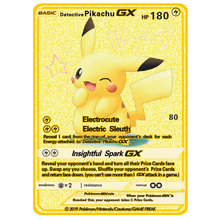 Pokemon New Gold Card Pikachu Gx EX Battle Game Shiny Metal Card Model Kids Play Against Toys Tag Team Fighting Order Series