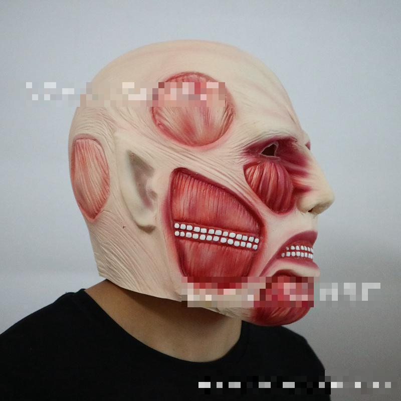 Invasive Giant Head Set Animation Film And Television Masks Festival Horror Cosplay Christmas Latex Mask Toy Unisex in Gags Practical Jokes from Toys Hobbies