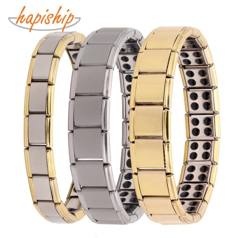 Hapiship Tourmaline Energy Balance Bracelet Health Care Jewelry For Men Women Germanium Bracelets & Bangle Gem10