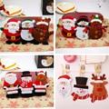 Рождественские столовые приборы сумка обеденный карман для столовых приборов  рождественские Украшения Снеговик Санта эльф олень праздни...