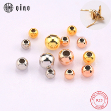 5 PCS 3-5MM 925 sterling Silver gold filled rose gold filled Silicone Silver End Beads Silver Crimp for Jewelry Making DIY