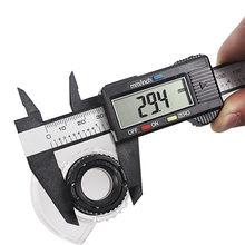 150mm 6 polegada lcd digital régua eletrônica de fibra carbono vernier caliper calibre micrômetro ferramenta medição calibre digital ferramentas