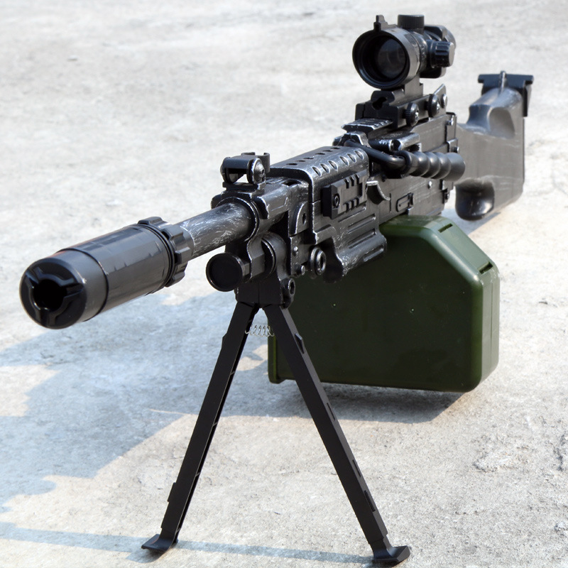 Ze yang M249 grand pistolet à eau ananas M762 tir électrique pour la bombe de moins de 98 k awm enfants compteur grève Cosplay bataille