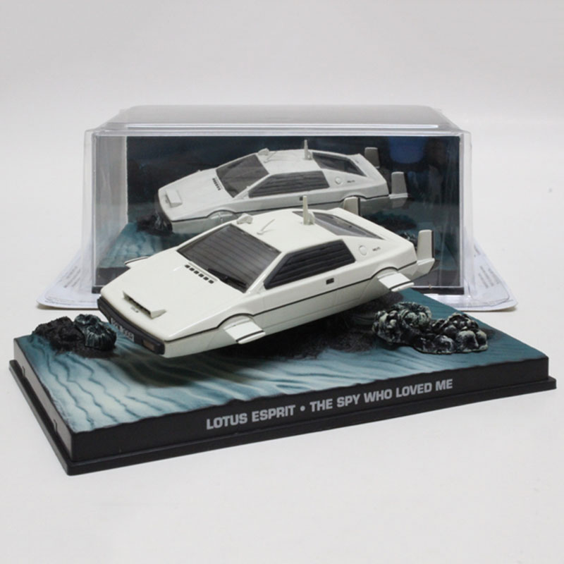 1/43 Scale classic alloy diecast Lotuse 007 movie submersible car model home decorations children collection gift Decoration image