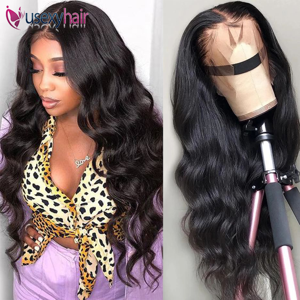 USEXY Lace Front Wig 13*4 Brazilian Body Wave Wig 150% Densty Lace Front Human Hair Wigs 360 Lace Frontal Wigs For Black Women