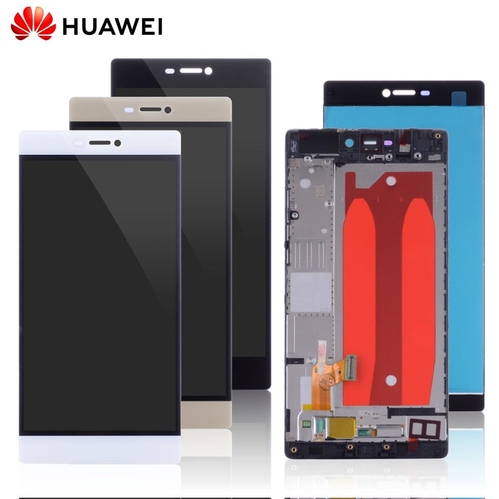 5.2 ORIGINAL LCD For HUAWEI P8 Display Touch Screen Replacement With Frame For HUAWEI P8 LCD Display GRA L09 Gra-l09 Gra-ul10