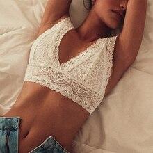 Bra Tops Underwear Camis Corset Mesh Lace Bralette Crop Sheer Floral Plus-Size Women