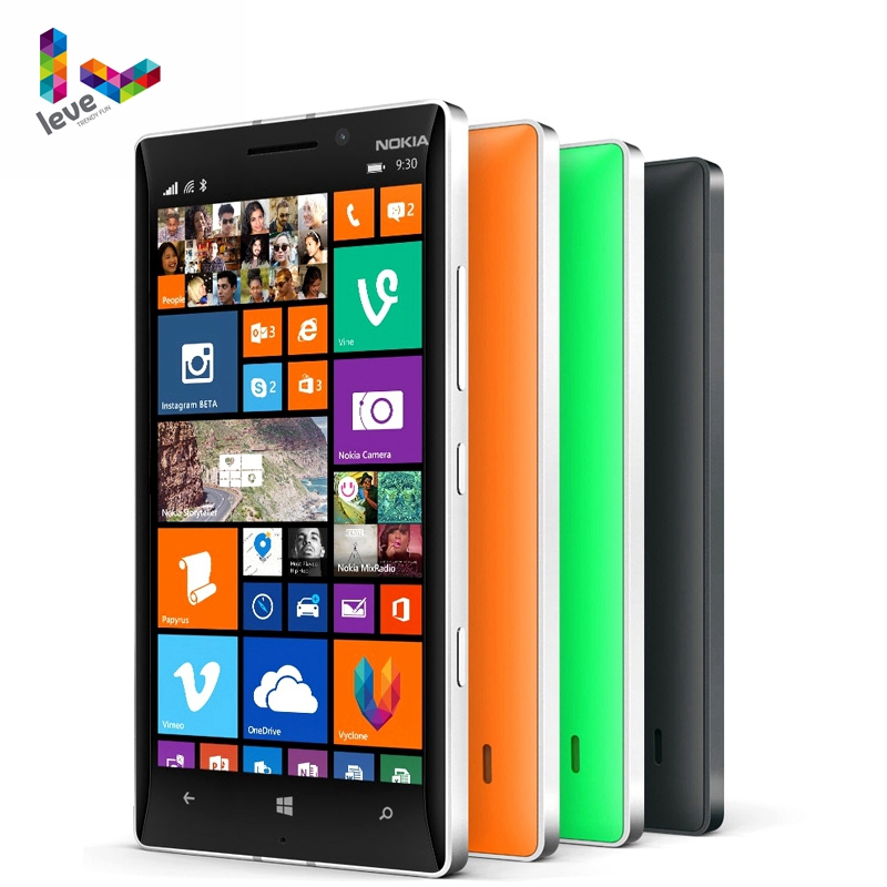 "Original Unlocked Nokia Lumia 930 Mobile phones 5"" 20MP Camera LTE NFC Quad-core 32GB ROM 2GB RAM Nokia L930 4G LTE Smartphones"