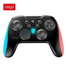 Ipega gamepad pg9139 bluetooth sem fio joystick game console controlador com luz led para nintend switch pc android ns
