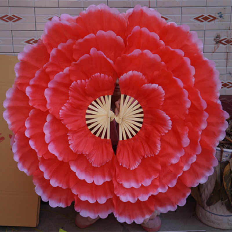 Tanzen Fan Pfingstrose Blume Tanz Hand Fan Square Dance Fan Leistung Requisiten Eventail ein Haupt Abanico Para Boda Abanico De mano