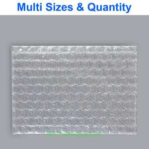 Pouches Packing-Envelopes Bubble-Bags Plastic Poly Clear Width Eq. 65-90mm X -X--Length-3--7.5-