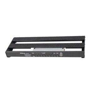 Черная алюминиевая доска для педалей Diy Гитара Бас педаль доска с лента ic кабель Шнур Ремни