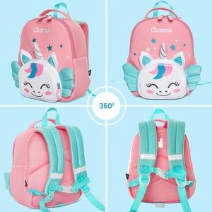Image 3 - Cocomilo 3D Cartoon Unicorn Kids School Bag Kawaii Soft Pink Unicorn Cute Kindergarten Backpack Toddler Baby Bag Children Gift