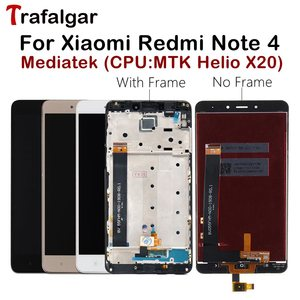 Image 1 - MTK Helio X20 Display For Xiaomi Redmi Note 4 LCD Display Note4 Touch Screen For Redmi Note 4 LCD With Frame Mobile Phone LCDs