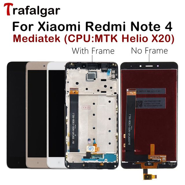 MTK Helio X20 Display For Xiaomi Redmi Note 4 LCD Display Note4 Touch Screen For Redmi Note 4 LCD With Frame Mobile Phone LCDs