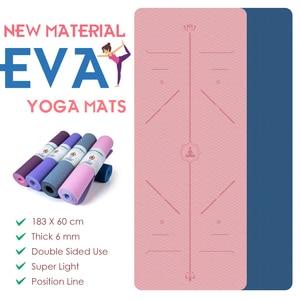 Yoga Mat 183X60 CM EVA Position Line Super Light Gym Pilates Non Slip Fitness Mat For Beginner Environmental Gymnastics Mats New