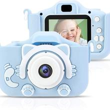 HD Kids Digital Camera With Dual Cameras Shockproof Cartoon Video Camcorders For