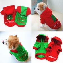 Рождественская одежда с принтом в виде собак зимние теплые флисовые