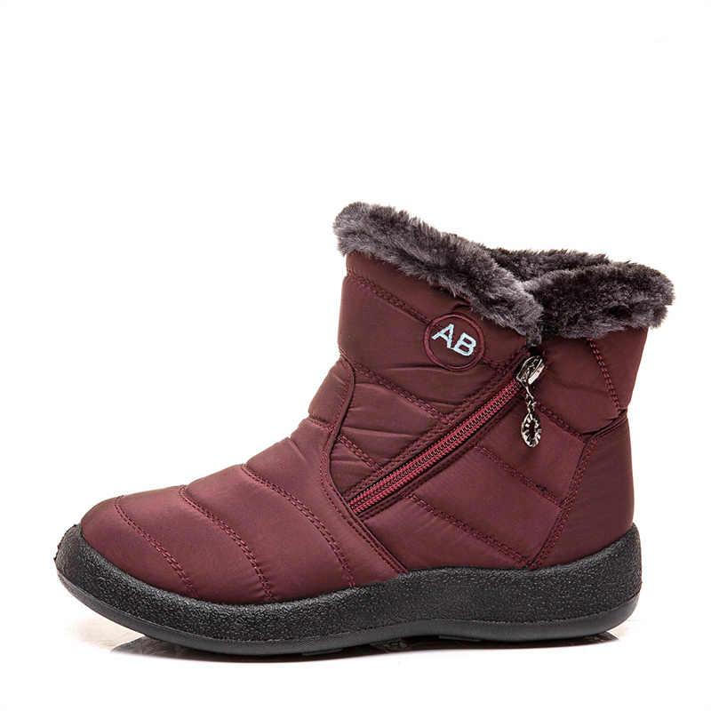 TIMETANG damesschoenen; winter laarzen; vrouwen winter laarzen voor moeders; warme katoenen schoenen gemaakt van waterdichte stof met pluche