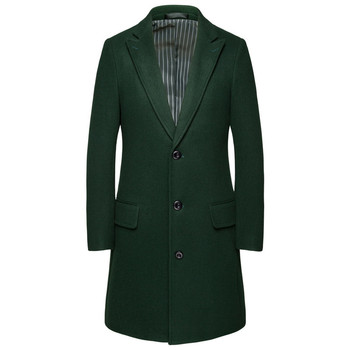 Business wool coat men's winter high-end large size thick blended coat M-6XL official wild self-cultivation long trench coat