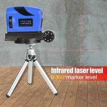 Fita de linha de medição vertical, nível a laser + tripé, alta precisão, ponto/linhas cruzadas, instrumento de medição para nivel laser a laser