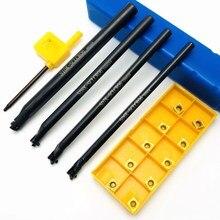 4 adet S10K SCLCR06 S06K / S07K / S08K / S10K 95 derece spiral dönüm aracı tutucu sıkıcı bar + 10 adet CCMT060204 karbür araçları