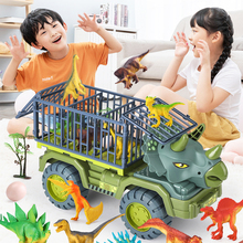 Oversize Inertial Dinosaur Car Engineering Vehicle Excavator Fall Resistant Pull Back Vehicle With Dinosaur Kids Truck Toy Gift