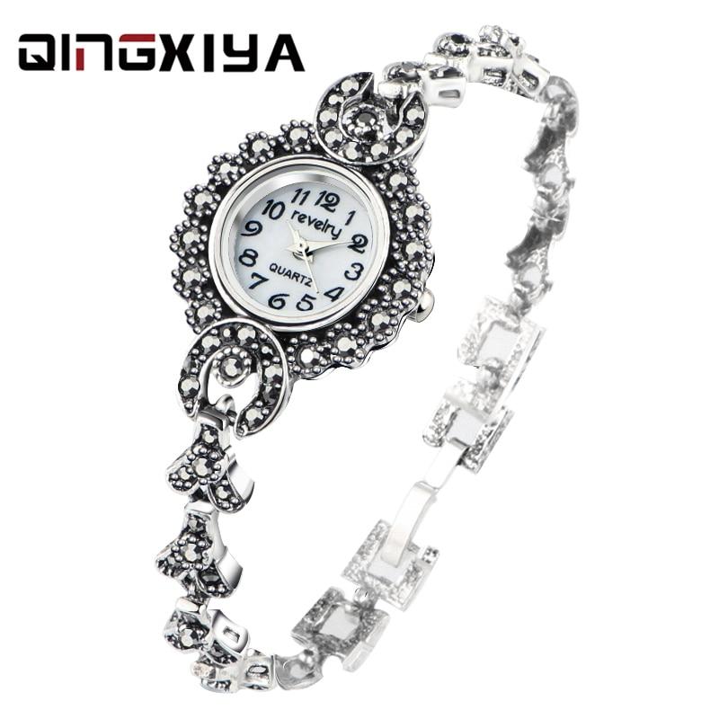 2020 New Brand QINGXIYA Bracelet Watches Women Luxury Crystal Dress Wristwatches Clock Women's Fashion Casual Quartz Watch Reloj