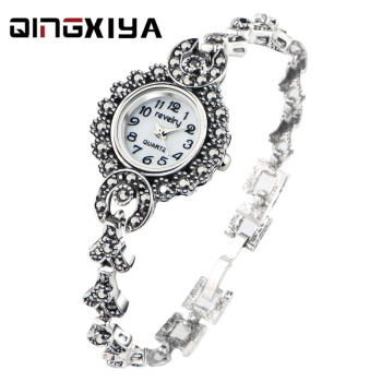 2020 New Brand QINGXIYA Bracelet Watches Women Luxury Crystal Dress Wristwatches Clock Women's Fashion Casual Quartz Watch reloj duoya brand bracelet watches for women luxury silver crystal clock quartz watch fashion ladies vintage creative wristwatches