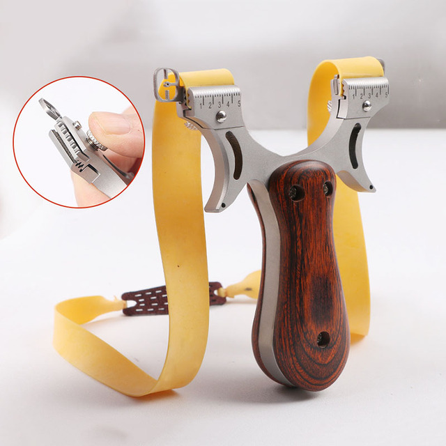 Powerful Slingshot Hunting High Quality Stainless steel Rubber Band Outdoor High Precision Shooting Slingshot 1