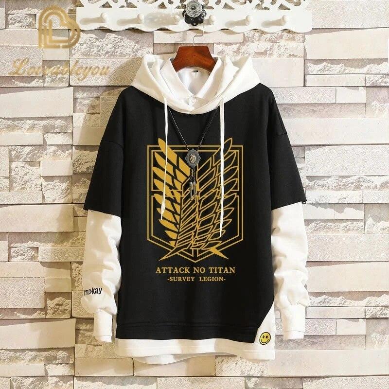 Men Women Casual Hoodie Jacket Anime Attack On Titan Hooded Coat Sweatshirt Gift