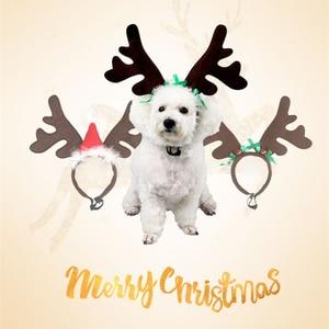 Christmas Reindeer Pet Headdre
