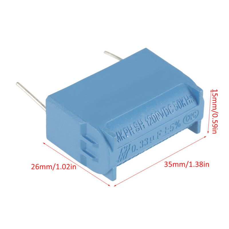 10PCS Capacitor MKPH 0.33uF 630VAC 1200VDC For Induction Cooker SSP 30.5mm / 1.2inch Capacitor 35x15x26mm / 1.38x0.59x1.02inch|Tool Parts|   - title=