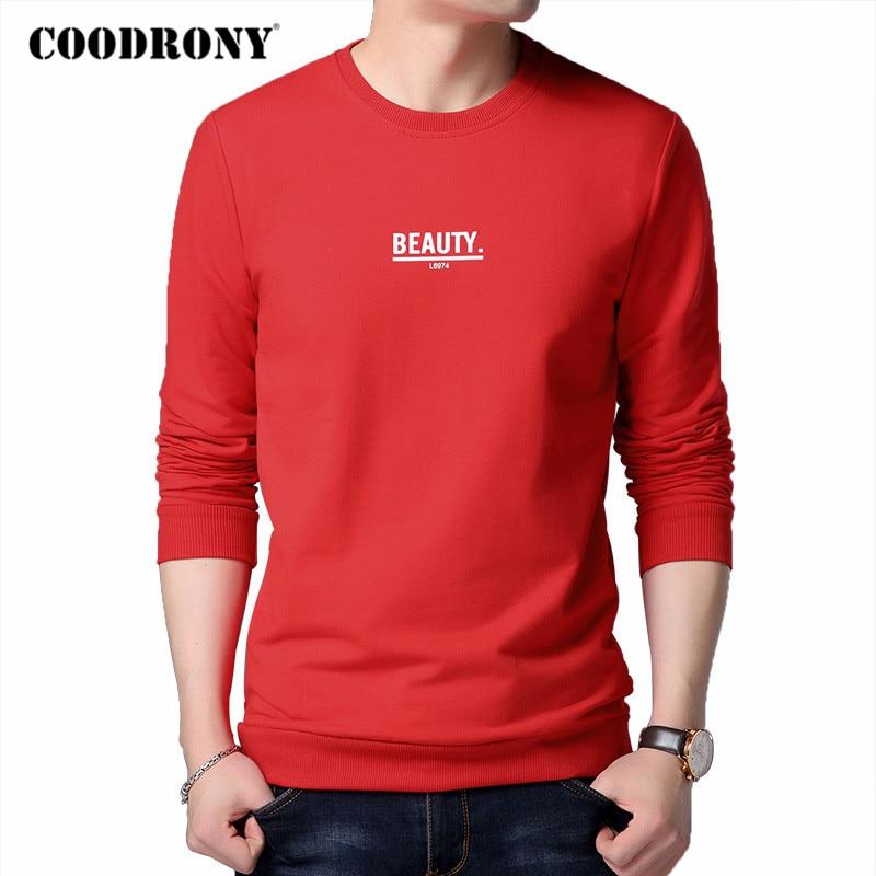 COODRONY Brand Hoodie Men 2020 Autumn New Arrivals Mens Sweatshirt Cotton Clothing Winter Fashion Letter Print Man Hoodies C4003