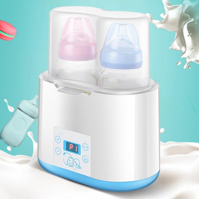Baby Bottle Warmer Bottle Steam Sterilizer 5-In-1 Smart Double Bottle Baby Food Heater For Breast Milk Or Formula Milk Warmer