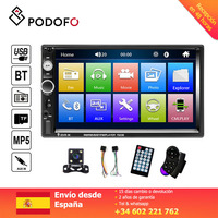 Podofo 7'' Car radio 2 din Digital Display Touch Screen Bluetooth Autoradio MP5 Stereo Multimedia Player MP5