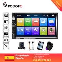 Podofo 7 ''radio de coche 2 din pantalla Digital pantalla táctil Bluetooth Autoradio MP5 estéreo reproductor Multimedia MP5