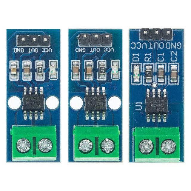 1pcs ACS712 5A/ACS712 20A/ACS712 30A Hall Current Sensor Module ACS712 model  ACS712 5A 20A 30A|Integrated Circuits|   -