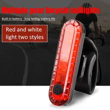USB Rechargeable LED Waterproof Bicycle Taillight Safety Warning Rear Lamp MTB Outdoor Night Riding Safety Light Accessories tanie tanio Aubtec QP210054 Sztyca Baterii Small and lightweight 2835 patch red light 30lm white light 45lm ABS+PC Product 7*2cm 7*4*6 5cm
